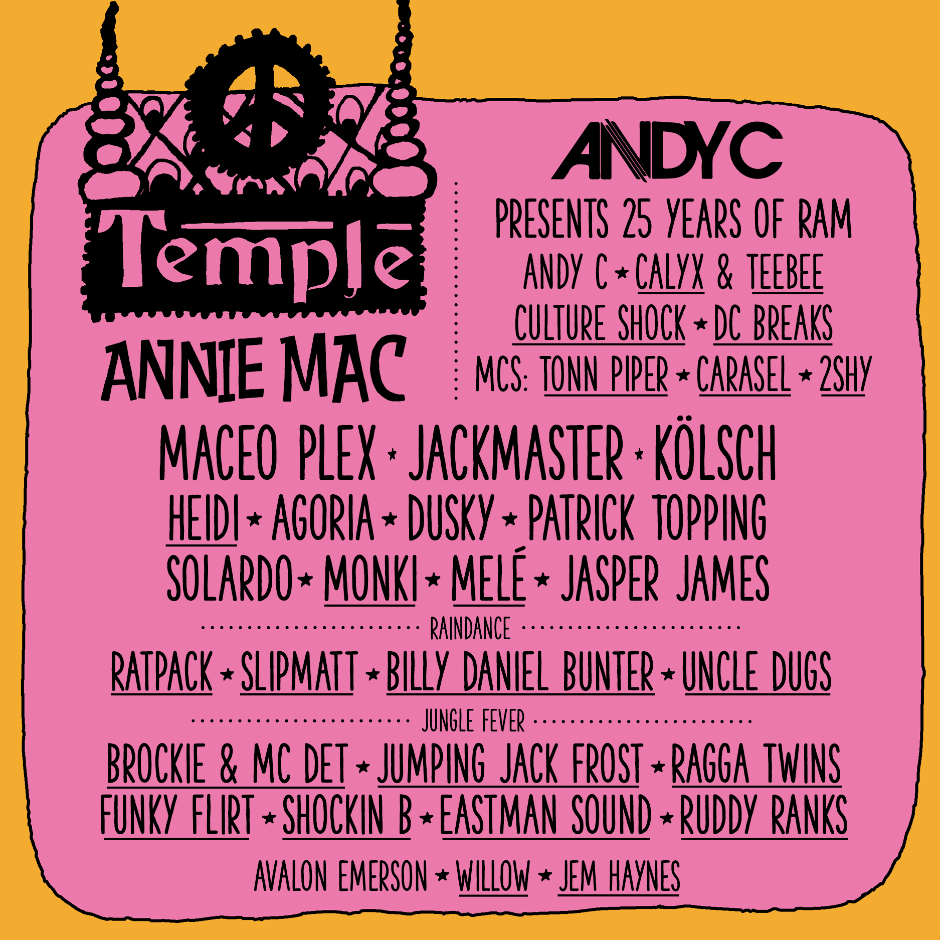 Andy C presents 25 years of RAM at Bestival