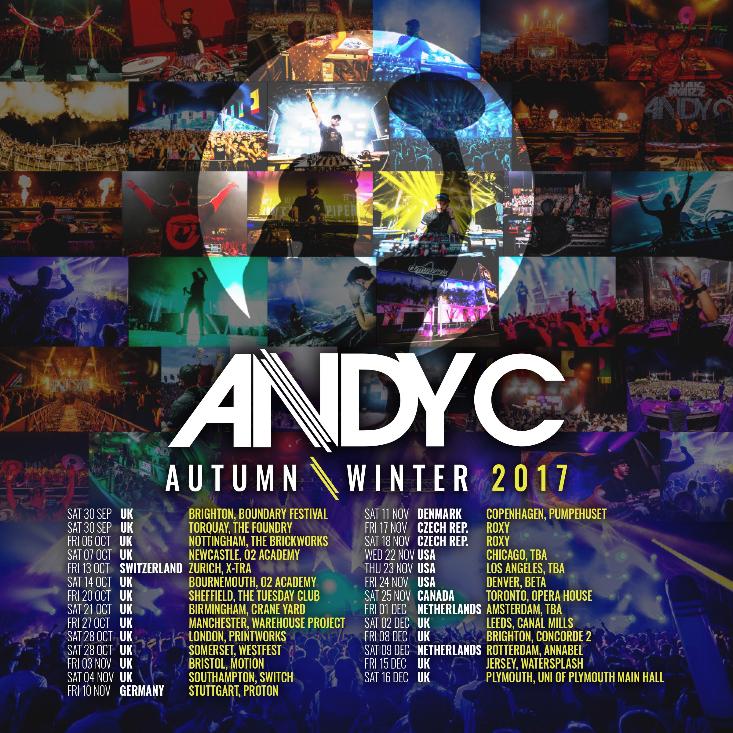 Andy announces first of Autumn/Winter dates