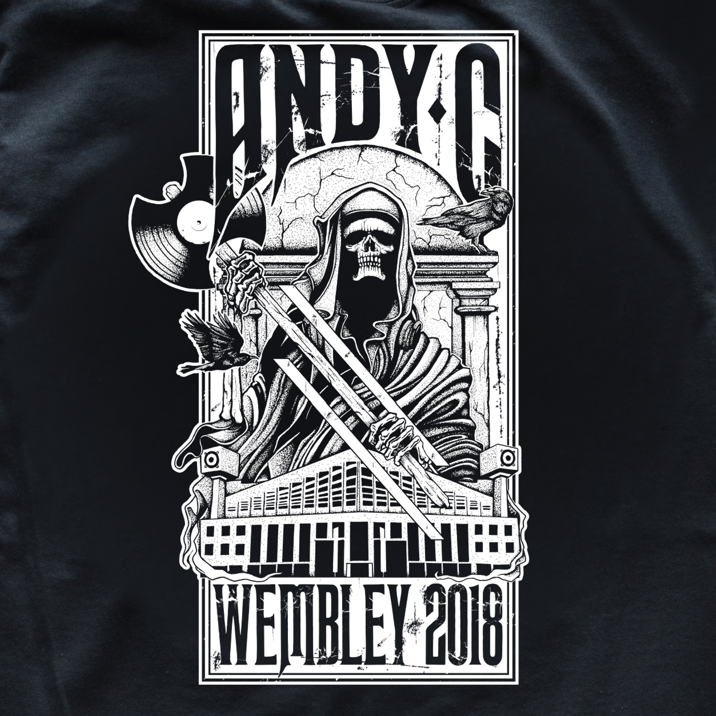 NEW LIMITED EDITION ANDY C WEMBLEY MERCH